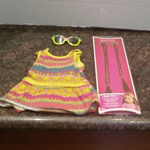 American Girl sundress with Matching Glasses and H
